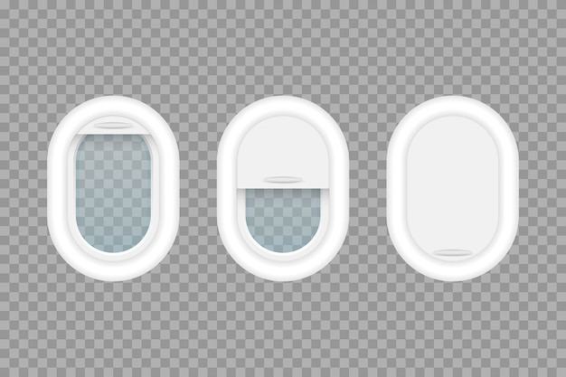 Flugzeug bullauge illustration lokalisiert auf transparentem hintergrund