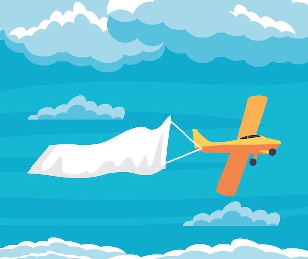 Flugzeug fliegt durch den himmel