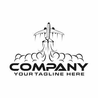 Flugzeug mit einem rauchstoß-logo