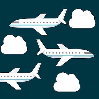 Flugzeug reisen