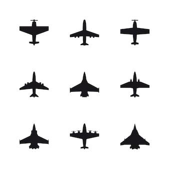 Flugzeug silhouette sest Premium Vektoren