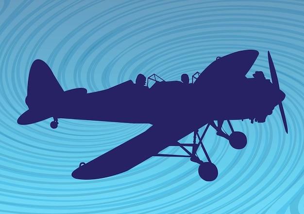 Flugzeug silhouette
