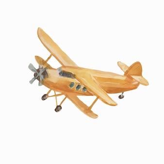 Flugzeug vintage transport aquarell kindisch süße hand gezeichnet