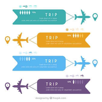 Flugzeuge mit farbigen Banner