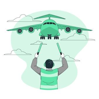 Flugzeugkonzeptillustration