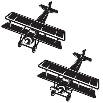 Flugzeugsymbol auf weißem hintergrund. element für logo, etikett, emblem, zeichen, abzeichen. bild