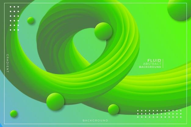 Fluid gradient abstract hintergrund grün und gelb