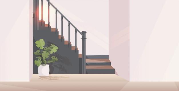 Flur mit treppe modernes apartmenthaus interieur horizontal