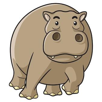 Flusspferd-cartoon