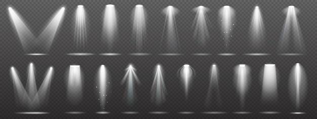 Flutlicht oder scheinwerfer für bühne, szene oder podium
