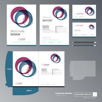 Flyer broschüre geschäftsjahresbericht cover vorlage ordner präsentation förderung