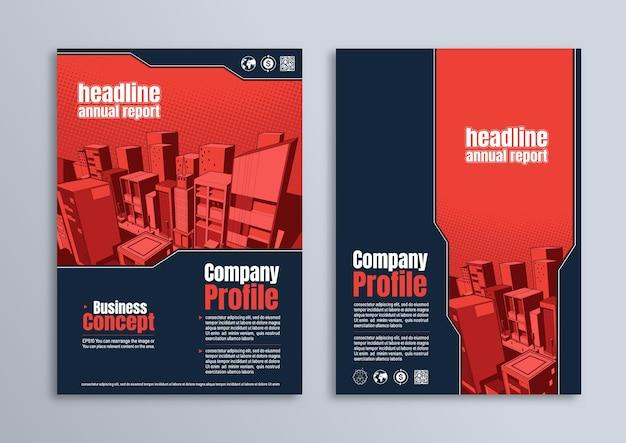 Flyer-broschüren-poster-design, business-vorlage im a4-format, zur präsentation, titelbilder des firmenprofils.
