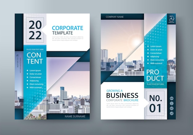 Flyer, buchumschlagvorlagen, layout im format a4.