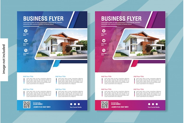Flyer business vorlage für cover broschüre corporate
