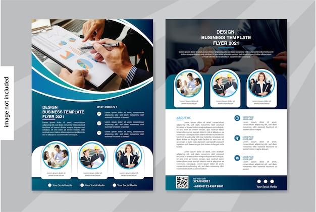 Flyer business vorlage für cover broschüre corporate