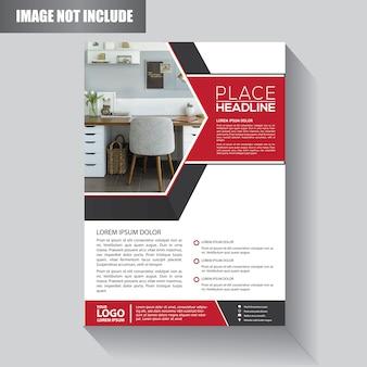 Flyer business-vorlage für hintergrund broschüre
