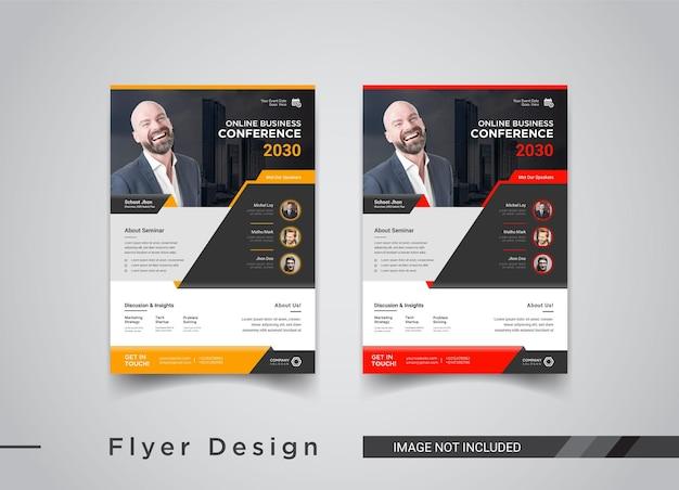 Flyer-design für online-geschäftskonferenzen