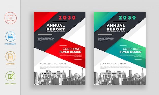 Flyer-designvorlage des modernen stadtunternehmensjahresberichts