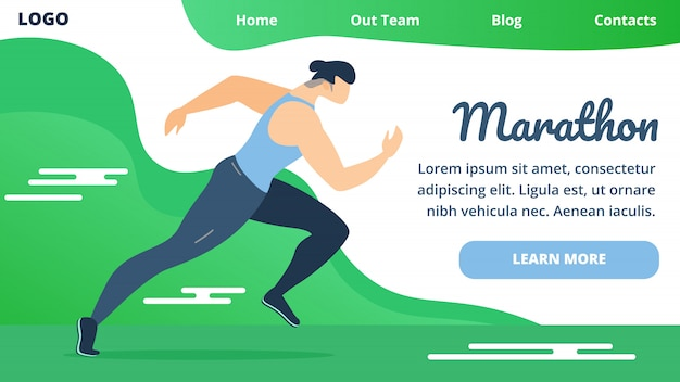 Flyer einladung wird marathon-cartoon geschrieben