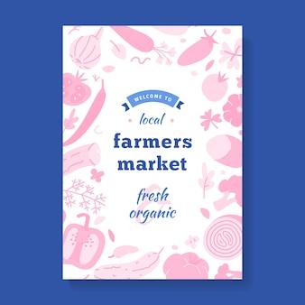 Flyer für lokalen bauernmarkt, vorlage