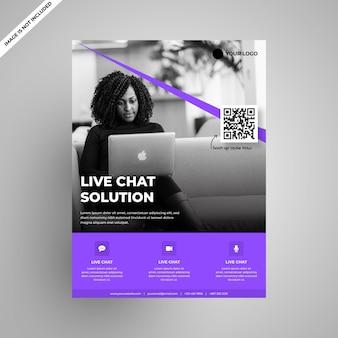 Flyer für moderne mehrzweck-softwarefirmen