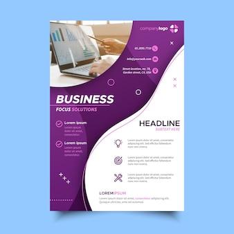 Flyer für unternehmensdienstleistungen