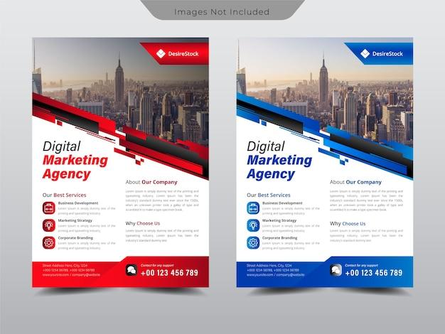 Flyer für unternehmensvorlagen