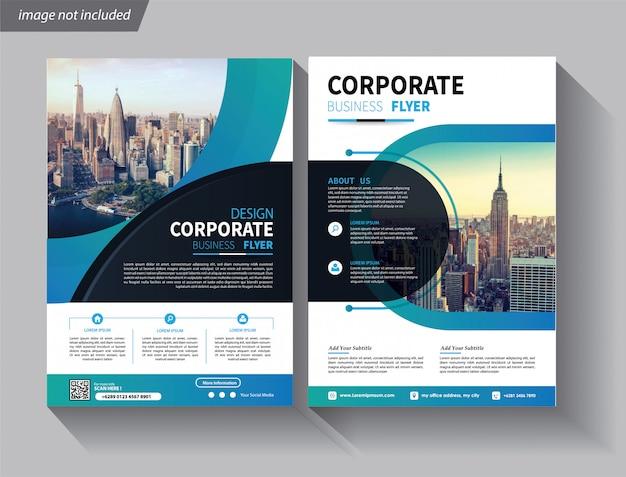Flyer geschäftsvorlage für cover broschüre corporate