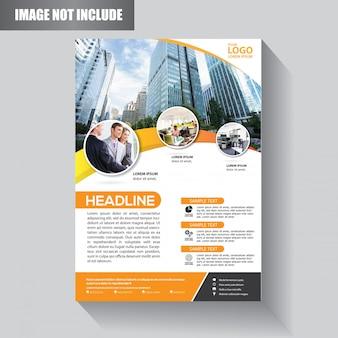 Flyer geschäftsvorlage für hintergrund broschüre
