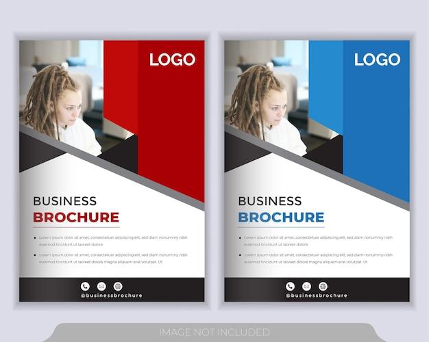 Flyer layout vorlage. geschäftsbericht, präsentationsvorlage für broschüren
