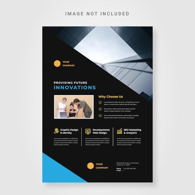 Flyer mit corporate-design-vorlage