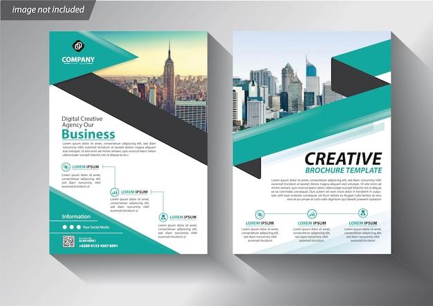 Flyer oder broschüre vorlage für unternehmen