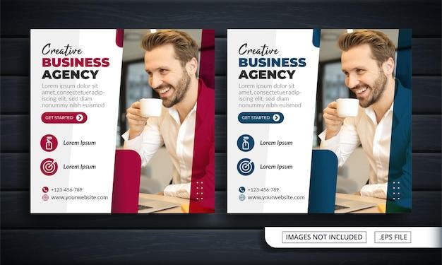 Flyer oder social media post themed business agency