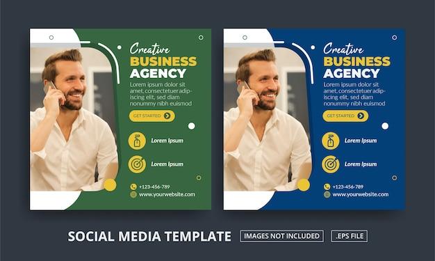 Flyer oder social media post unter dem motto digital marketing agency
