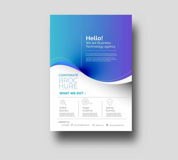 Flyer-poster-cover-design in a4-vorlagenillustration