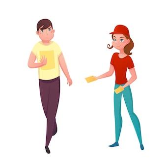 Flyer-promotion-vektor-illustration