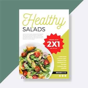 Flyer-schablonenthema des gesunden lebensmittelrestaurants