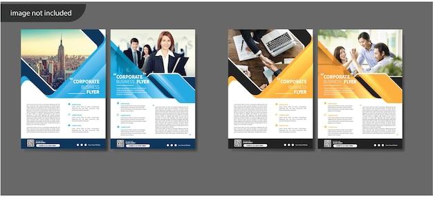 Flyer template design für cover layout jahresbericht