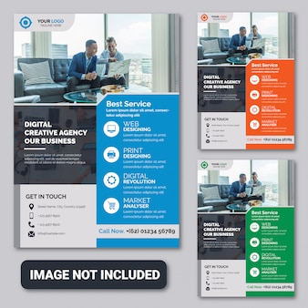 Flyer template premium der agentur für digitales marketing