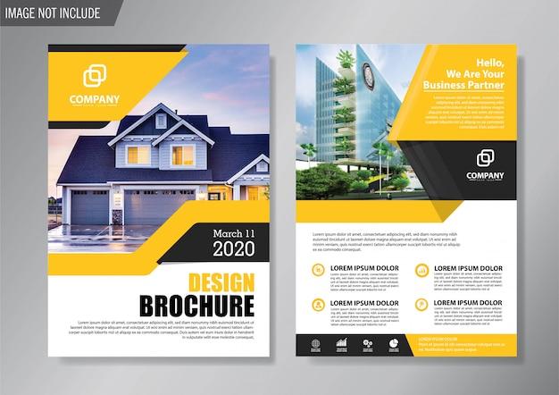 Flyer und broschürenvorlage für design-jahresbericht