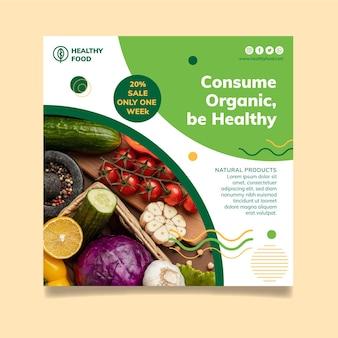 Flyer vorlage für bio- und gesunde lebensmittel