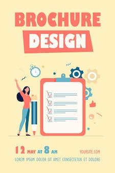 Flyer-vorlage für checkliste oder umfragekonzepte