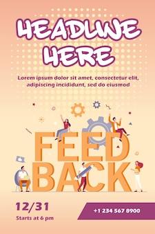 Flyer-vorlage für das kundenfeedback-management
