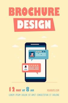 Flyer-vorlage für die online-chat-oberfläche