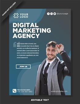 Flyer vorlage für digitale agenturen