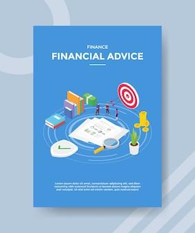 Flyer-vorlage für finanzberatung