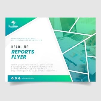 Flyer-vorlage für geschäftsberichte