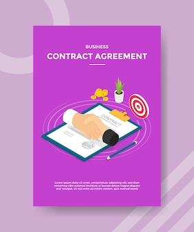 Flyer-vorlage für geschäftsvertragsvereinbarung