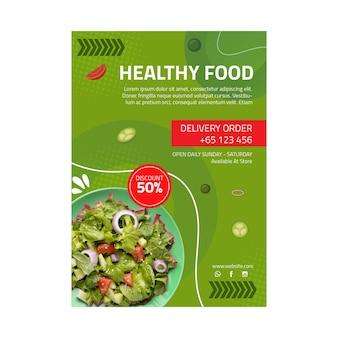 Flyer vorlage für gesunde lebensmittel