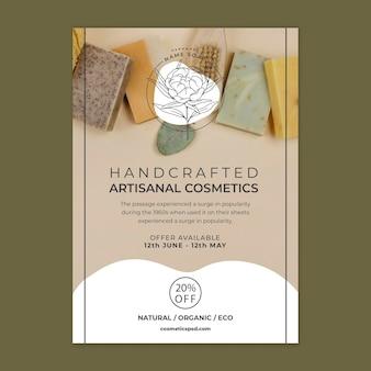 Flyer-vorlage für handwerkliche kosmetik